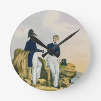 Midshipmen, plate 3 from 'Costume of the Royal Nav Round Clock