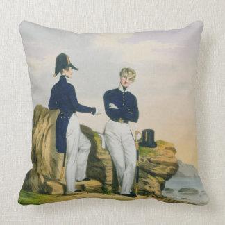 Midshipmen, plate 3 from 'Costume of the Royal Nav Throw Pillow