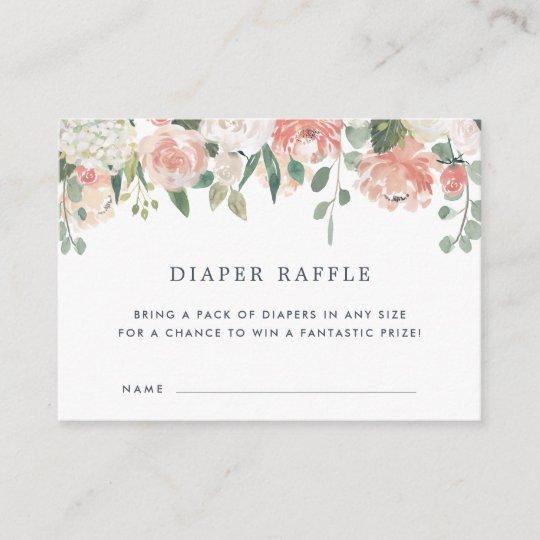 Midsummer Baby Shower Diaper Raffle Ticket Cards Zazzle