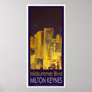 Midsummer Boulevard poster art