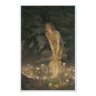 Midsummer Eve, 1908 Vintage Fairy Painting Poster