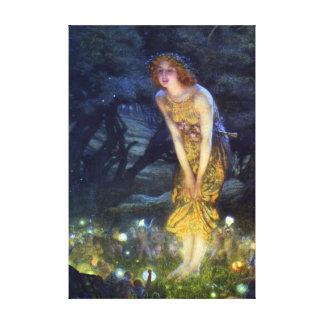 Midsummer Eve by Edward Robert Hughes Canvas Print
