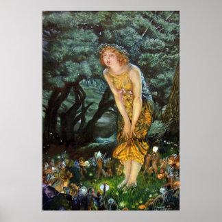 Midsummer Eve Edward Robert Hughes Poster