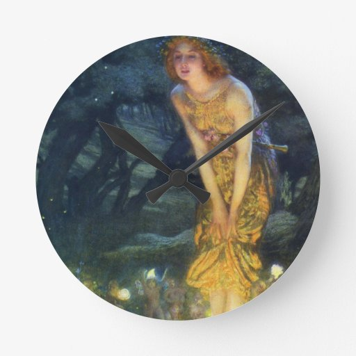 Midsummer Eve Fairy Dance Clock
