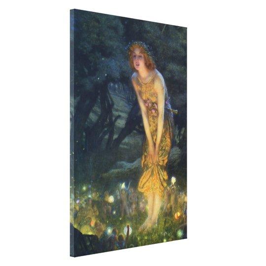 Midsummer Eve Pre-Raphaelite Art Canvas Print