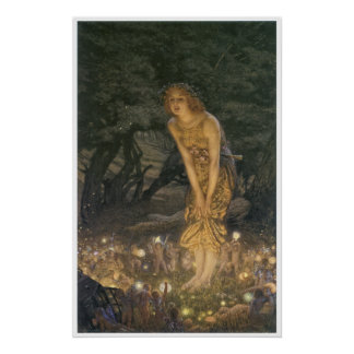 Midsummer Eve Print by Eward Robert Hughes
