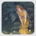 Midsummer Eve with a Fairy Ring 1908 Square Sticker