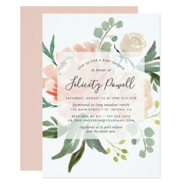 Toddler & Baby themed Midsummer Floral Baby Shower Invitation
