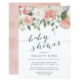 Floral baby shower invitations announcements zazzle midsummer floral baby shower invitation filmwisefo Choice Image