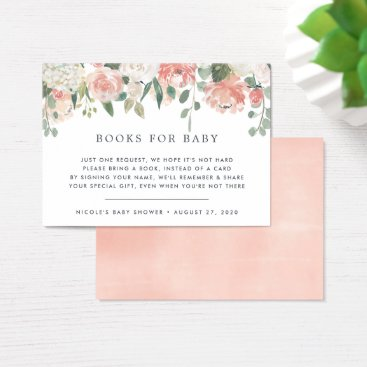 Toddler & Baby themed Midsummer Floral Book Request Baby Shower Card