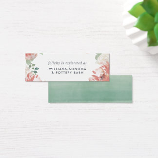 Midsummer Floral Bridal Registry Insert Cards