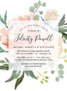 60 off floral bridal shower invitations shop now to save zazzle midsummer floral bridal shower invitation filmwisefo