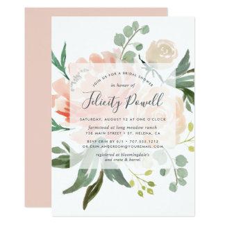 Midsummer Floral Bridal Shower Invitation