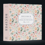 """Midsummer Floral Bridal Shower Recipe Binder<br><div class=""""desc"""">Collect recipes for the bride to be and organize them in this pretty patterned binder with tons of personalization options! Chic floral binder features a pattern of watercolor peonies and roses in blush pink, peach and cream. Customize the front with the bride to be&#39;s name and shower date, and add...</div>"""