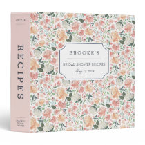 Midsummer Floral Bridal Shower Recipe Binder
