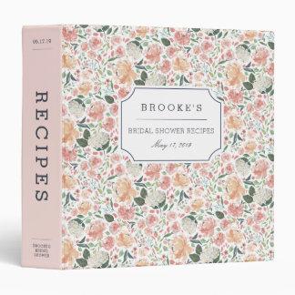 Midsummer Floral Bridal Shower Recipe Binder
