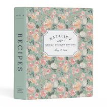 Midsummer Floral | Bridal Shower Recipe Mini Binder