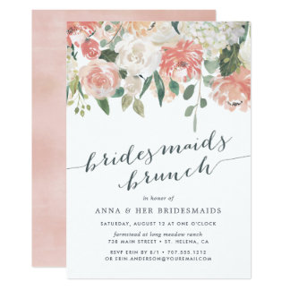 Midsummer Floral | Bridesmaid Brunch Invitation
