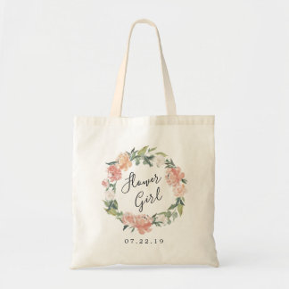 Midsummer Floral | Flower Girl Bridal Party Tote Bag