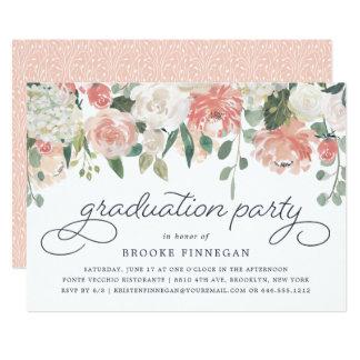 Midsummer Floral Graduation Party Invitation