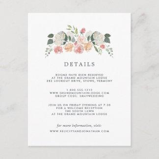 Midsummer Floral | Guest Details Card