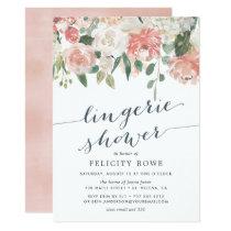 Midsummer Floral   Lingerie Shower Invitation