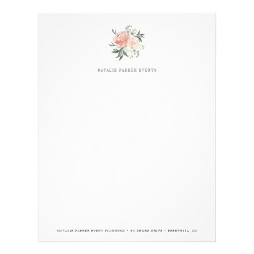 Professional Business Midsummer Floral Logo Letterhead