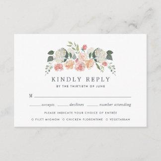 Midsummer Floral Meal Choice RSVP Card
