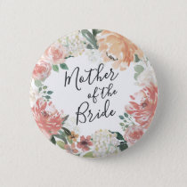 Midsummer Floral Mother of the Bride Button