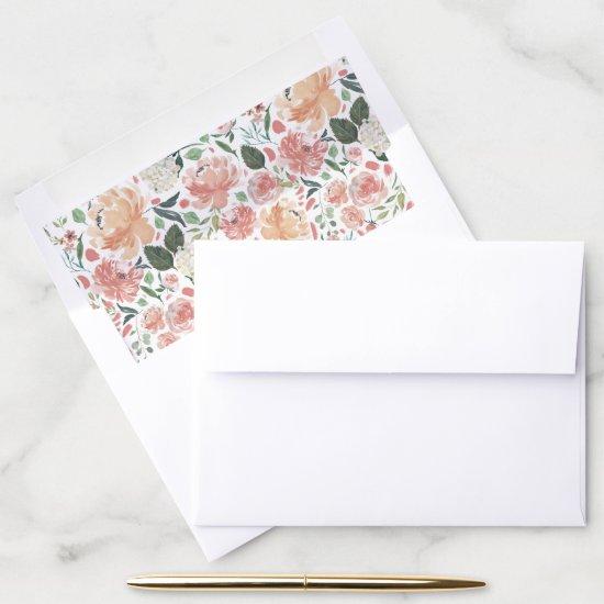 Midsummer Floral Pattern Envelope Liner