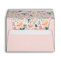 Midsummer Floral Pre-Printed Return Address Envelope