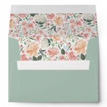 Midsummer Floral Pre-Printed Return Address Envelope