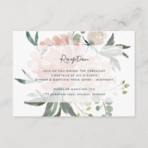 Midsummer Floral Reception Card