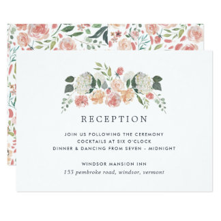 Midsummer Floral Reception Enclosure Card