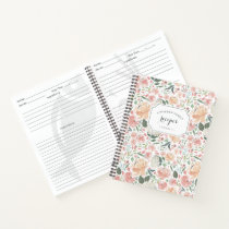 Midsummer Floral Recipe Notebook