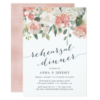 Midsummer Floral | Rehearsal Dinner Invitation