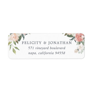 Midsummer Floral Return Address Label