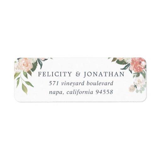 Midsummer Floral Return Address Label