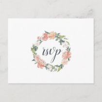 Midsummer Floral RSVP Postcard with Meal Choice