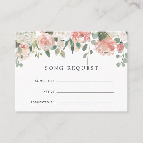 Midsummer Floral Song Request Card