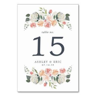 Midsummer Floral Table Number Card
