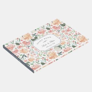 Midsummer Floral Wedding Guest Book