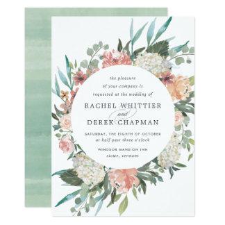 Midsummer Floral Wedding Invitation