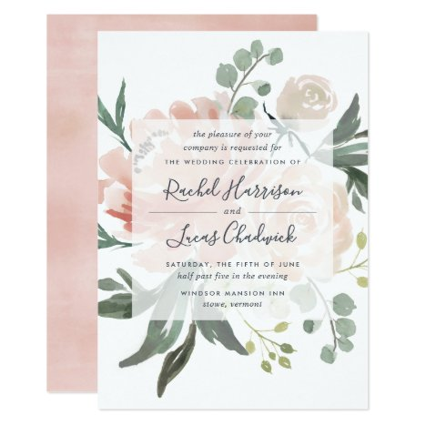 Midsummer Floral Wedding Invitation