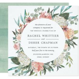 Midsummer Floral Wedding Invitation | Square