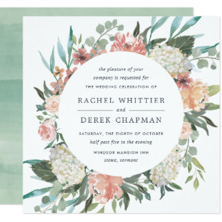 Midsummer Floral Wedding Invitation | Square