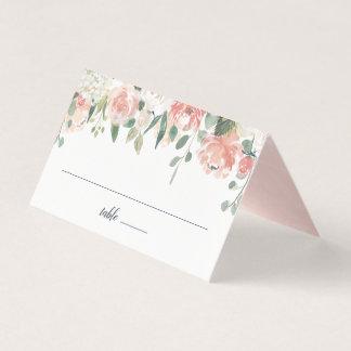Midsummer Floral Wedding Place Card