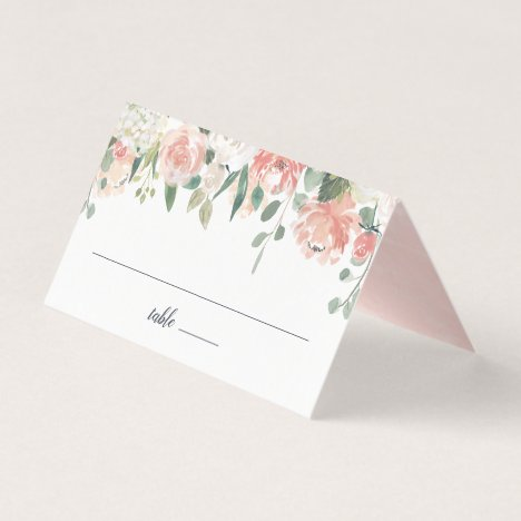 Midsummer Floral Wedding Place Card