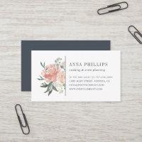 Midsummer Floral Wedding Planner Business Card