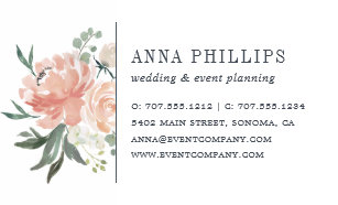 Event planning business cards templates zazzle midsummer floral wedding planner business card colourmoves